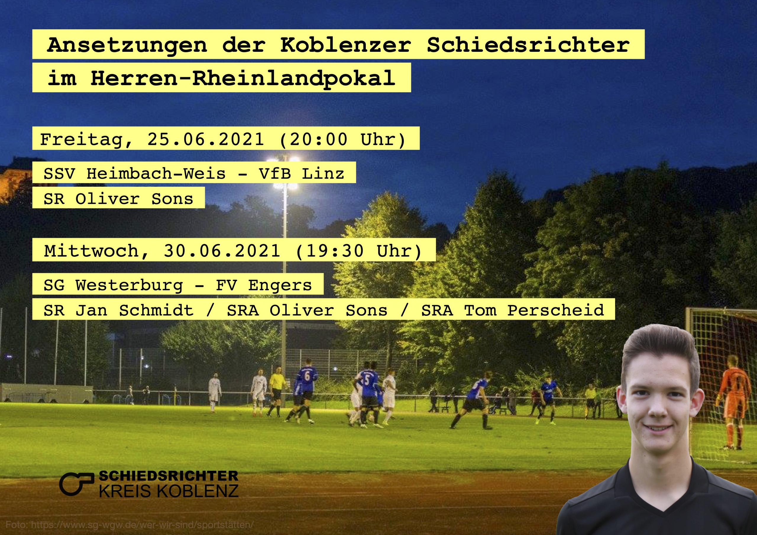 Schmidt pfeift Westerburg gegen Engers